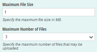 Restrict file size, number of files, and file types.