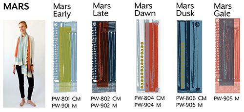 Mars wool scarves