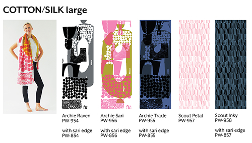 Large cotton/silk scarves