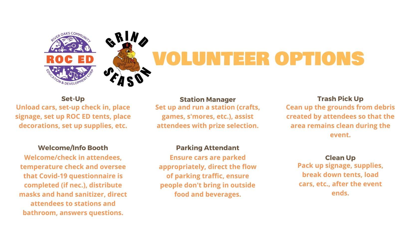 Volunteer Options
