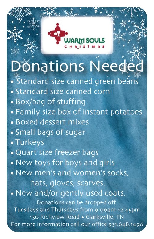 Grocery Donations List