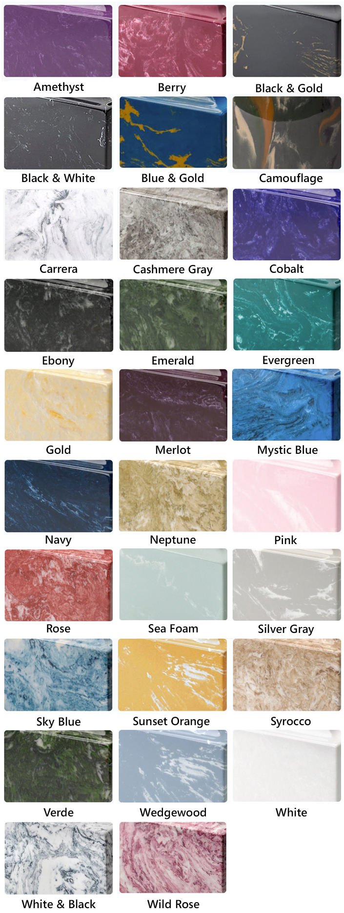 Marble Burial Urn Colors