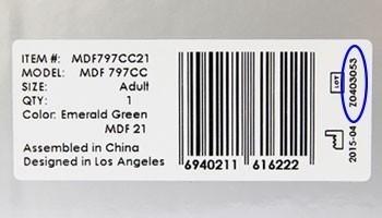 Lot-Nummer Stethoskop Barcode